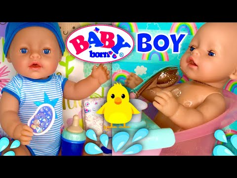 💙MGA Baby Born Boy Doll & Bath Unboxing Evening Routine!⭐️ from YouTube · Duration:  16 minutes 41 seconds