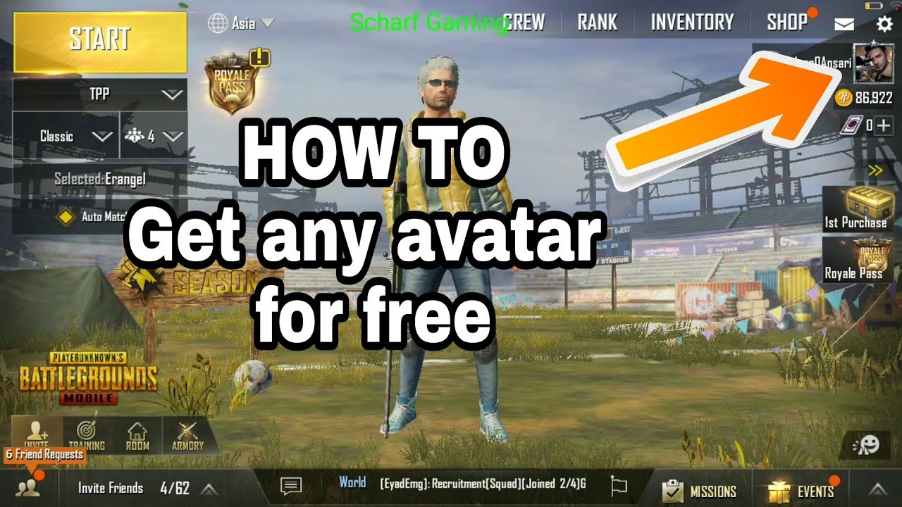 How Get Paid Avatar For Free Pubg Mobile Trick