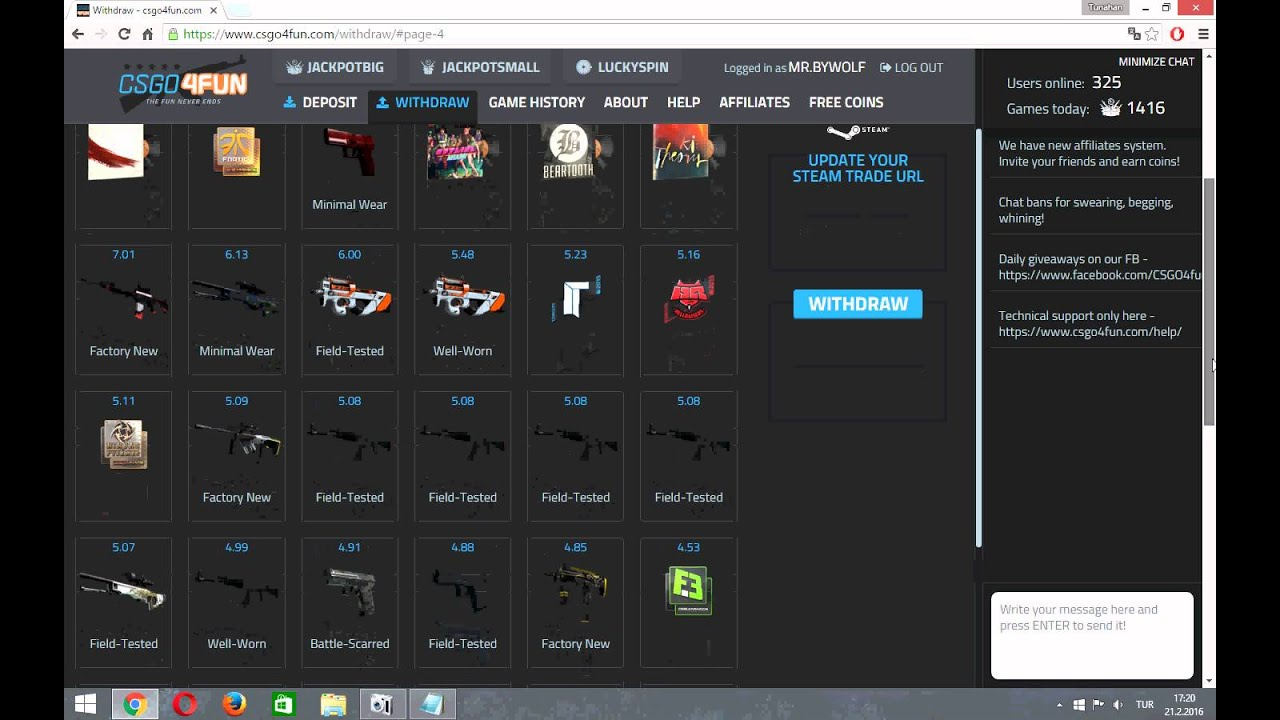 Csgo4fun free coins opskins bot group
