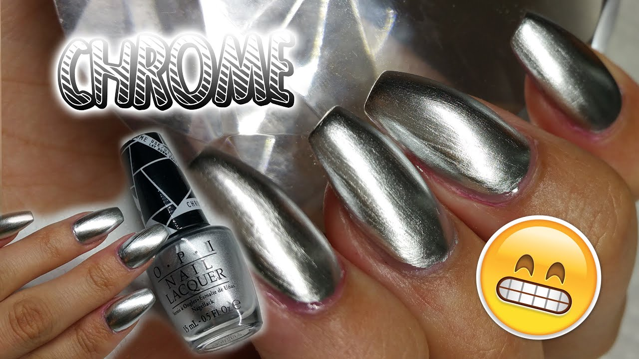 Opi Chrome Effect Nail Polish Mirror Nails