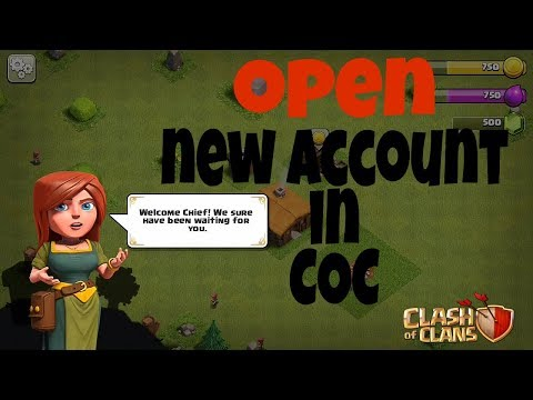 How To Make A Second Clash Of Clans Account In Hindi| Creating New Account In Clash Of Clans