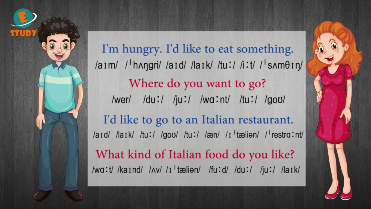 English conversation for beginners - Lesson 5: I'm hungry