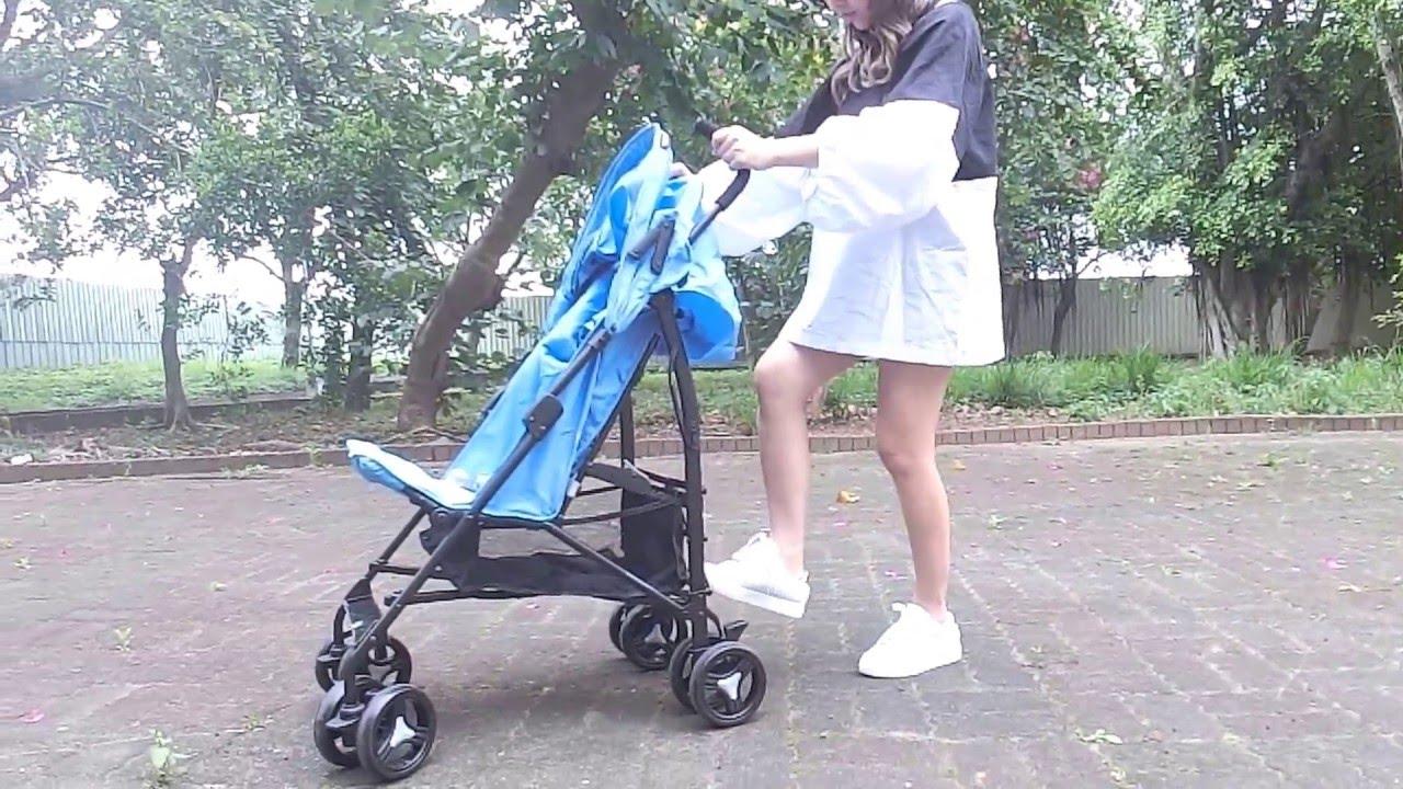 媽咪示範秒收推車荷蘭兒童手推傘車愛兒雀Axio嬰兒推車Xadventure - YouTube