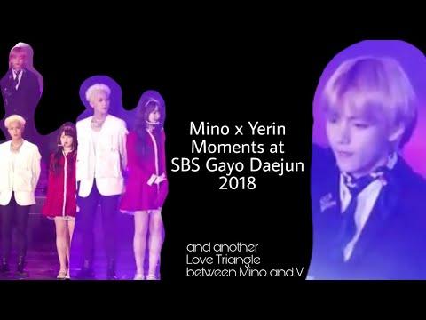 Mino x Yerin at SBS Gayo Daejun 2018 ft. V