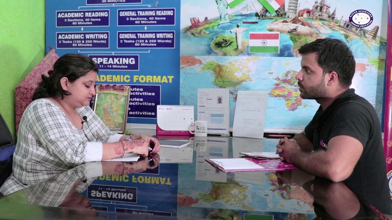 IELTS Speaking Mock test | Super Achievers Abroad Education