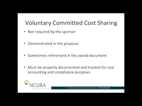 The Three Types of Cost Sharing