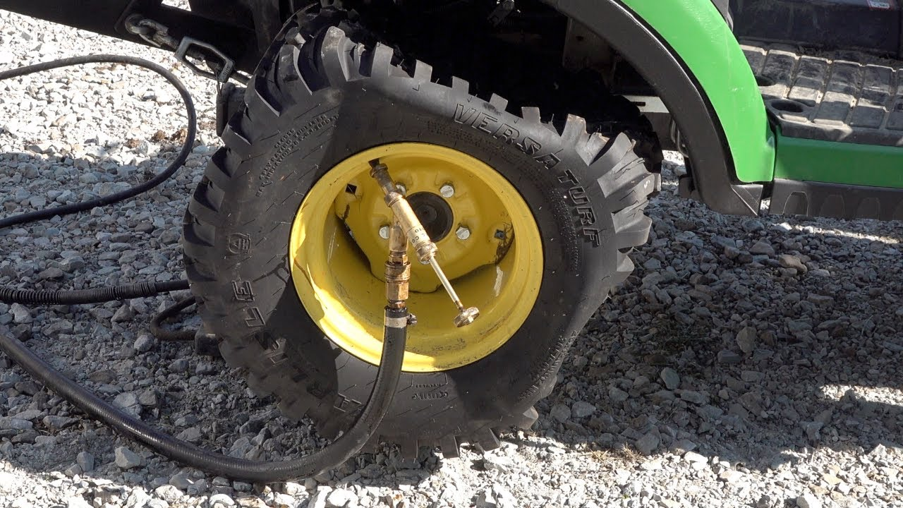 Optimal Tire Ballast??  How To Add Rim Guard to Compact Tractors