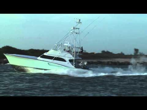 Sport Fishing Boat Running Hard