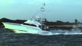 Sport Fishing Boat Running Hard