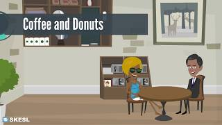 English Conversation Lesson 52:  Coffee and Donuts