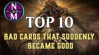 MTG Top 10: BAD Cards That Suddenly Became Good