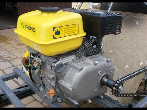 Двигатель с редуктором и автоматическим сцеплением для снегохода или картинга - Sadko GE 200 R