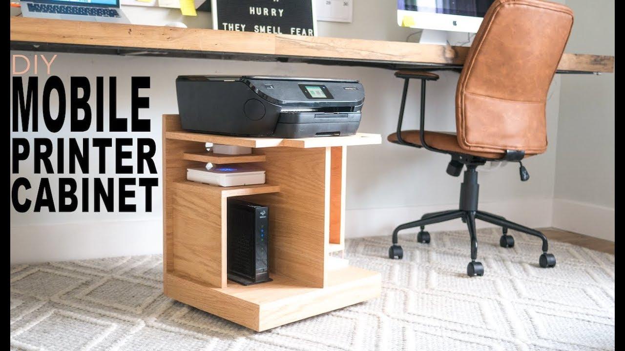 Under Desk Printer Stand Youtube