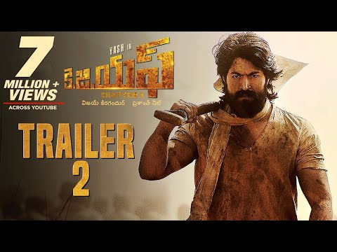 Kgf Official Telugu Trailer 2 Yash Srinidhi Shetty Prashanth Neel Vijay Kiragandur Youtube