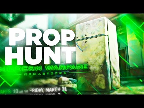 NEW MODERN WARFARE REMASTERED PROP HUNT OPEN LOBBY - INSANE NEW GAMEMODE