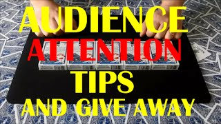 Dual Card Tricks | Audience Attention Tips Revealed | Give Away