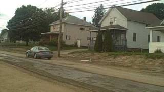 Maple Street Road Construction Massena New York