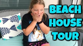 Fun and Crazy Kids BEACH HOUSE TOUR!! With Real Life Greedy Ganny