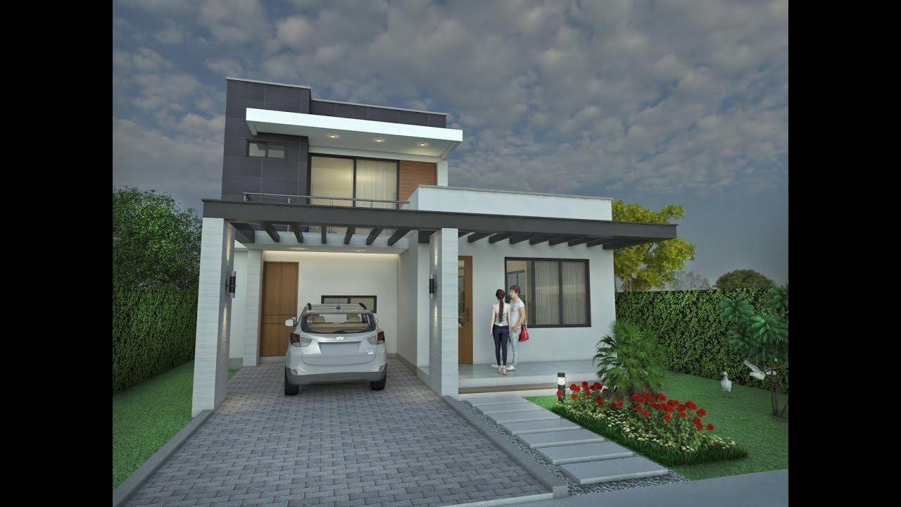 Planos de casa moderna dise o en dos pisos rea 167 m2 for Disenos de casas campestres modernas