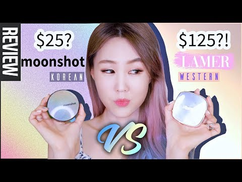 $25 KOREAN VS. $125 WESTERN?! 🤔 I Compared Moonshot to La Mer's Cushion Foundations | meejmuse