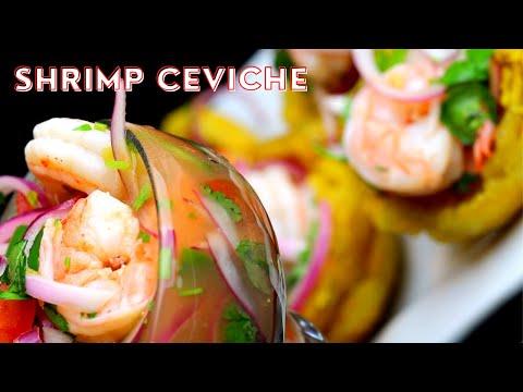 Shrimp Ceviche - Ceviche de Camarones Ecuatoriano - Kelvin's Kitchen
