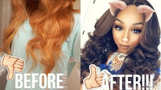 Hair Dye GONE WRONG! How To Fix Extremely Damaged Hair At Home ft. UNice