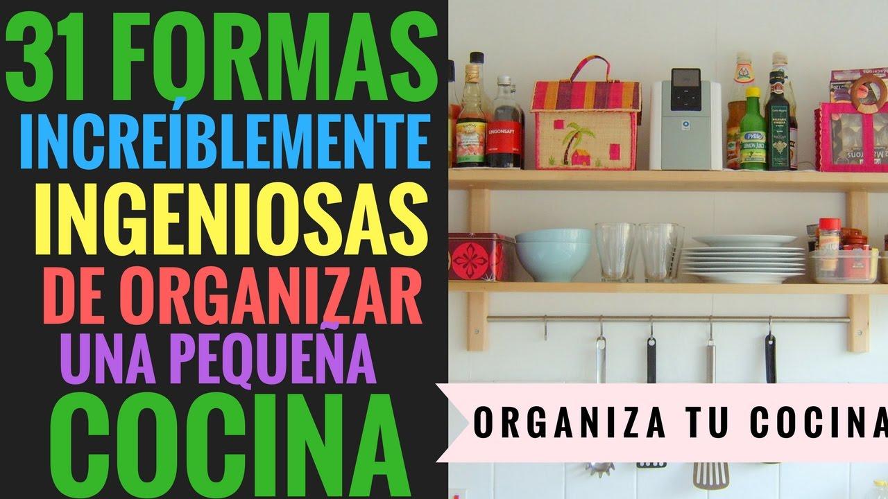31 Formas Increíblemente Ingeniosas De Organizar Una Pequeña Cocina Youtube