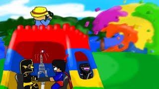 MINECRAFT: BASE DE LEGO TROLL VS TSUNAMI DE LEGO