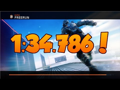 Black Ops 3 Freerun Alpha 1:34.786!!! WORLD RECORD!!!!!!