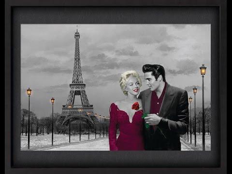 Quadro com Profundidade Marilyn Monroe e Elvis Presley em Paris ...