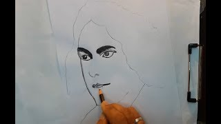 how to draw kazi nazrul islam (very easy)
