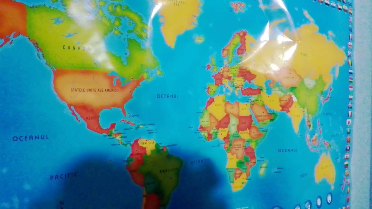 Mymap Harta Lumii Engleză Youtube