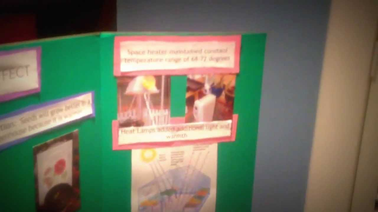 Peyton's Second Grade Science Fair - Greenhouse Effect - YouTube