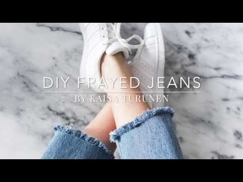 DIY frayed jeans. http://bit.ly/2zwnQ1x