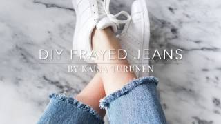 dIY frayed jeans