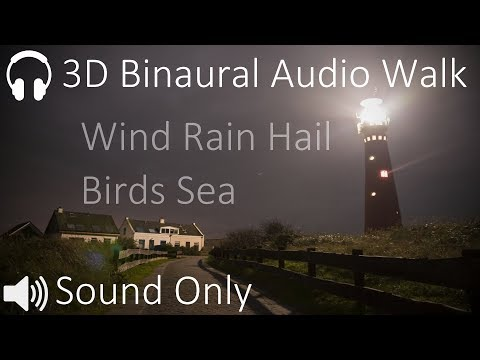 Atmospheric Audio Walk Through Wind, Rain and Hail