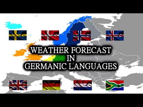 Weather Forecast in 8 Germanic Languages 🇬🇧 🇩🇪 🇳🇱 🇿🇦 🇸🇪 🇩🇰 🇳🇴 🇮🇸