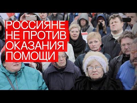 Россияне непротив оказания помощи Белоруссии состороны России