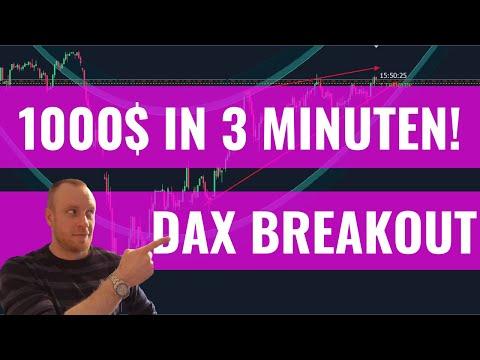 CFD Trading: 1000💲 in 3 Minuten | DAX Breakout im Zeitraffer!