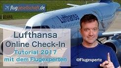 Lufthansa Online Check-In (2017, deutsch) mit Fluggesellschaft.de