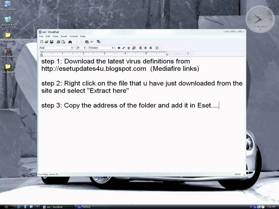 eset antivirus offline update