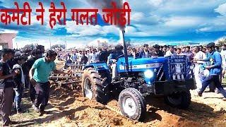 दम दिखाता ट्रैक्टर Sonalika Di 750 III struggle with two Harrow in khachroli jhajjar