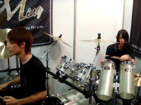 Ming Drum 2010 台北樂器展實況五