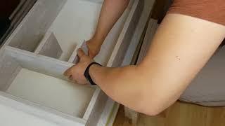 Монтаж встроенного шкафа-купе без дверей