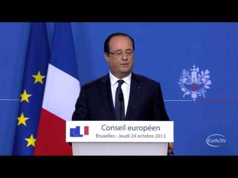 Hollande, Merkel demand explanation over US spying allegations -- Hollande's press conference