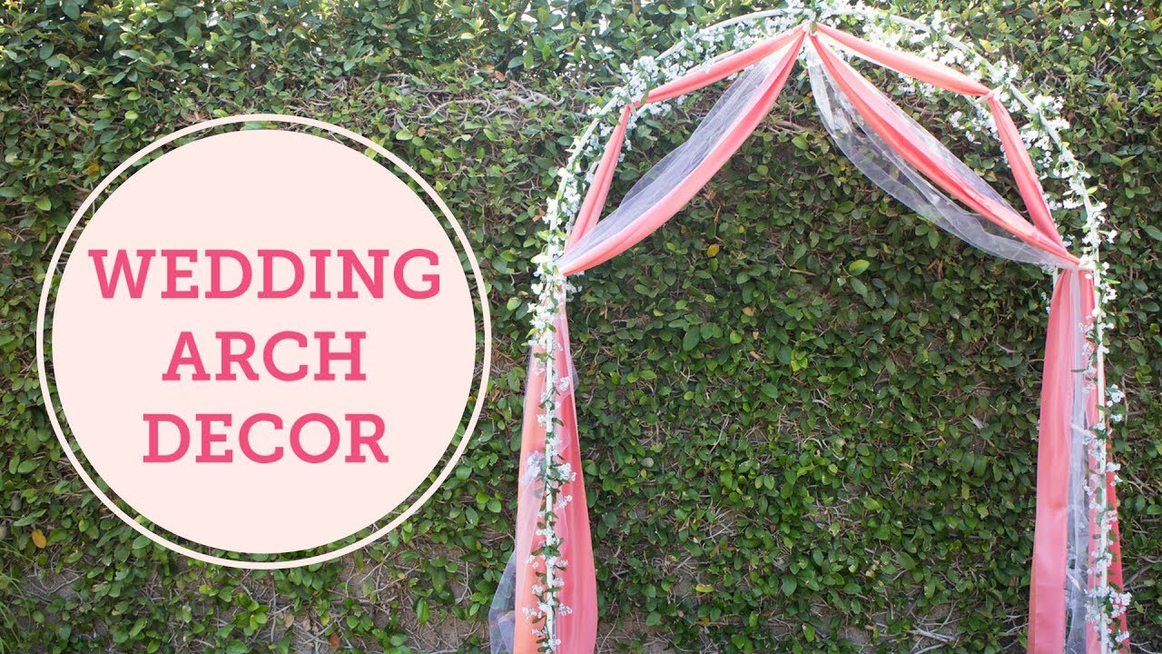 Diy Wedding Arch Decoration Balsacircle Wedding Trend
