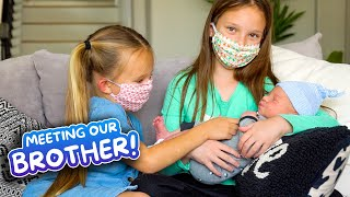 SISTERS MEET BABY BROTHER FOR FIRST TIME! (EMOTIONAL)