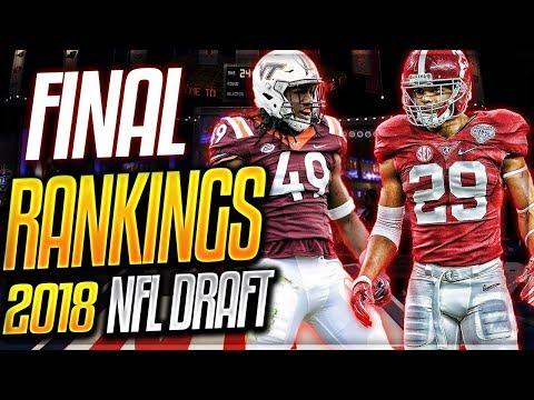 FINAL 2018 NFL Prospect Rankings -- Defense | Chubb + Fitzpatrick + STACKED Linebacker Class