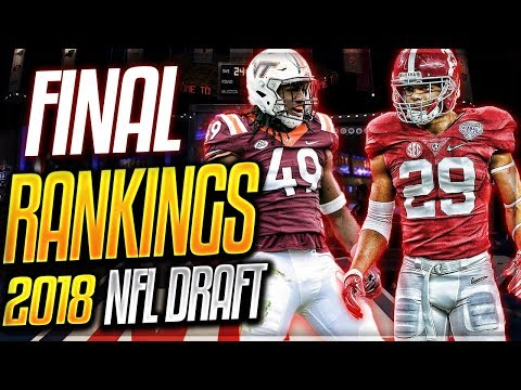 FINAL 2018 NFL Prospect Rankings -- Defense | Chubb + Fitzpatrick + STACKED Linebacker Class