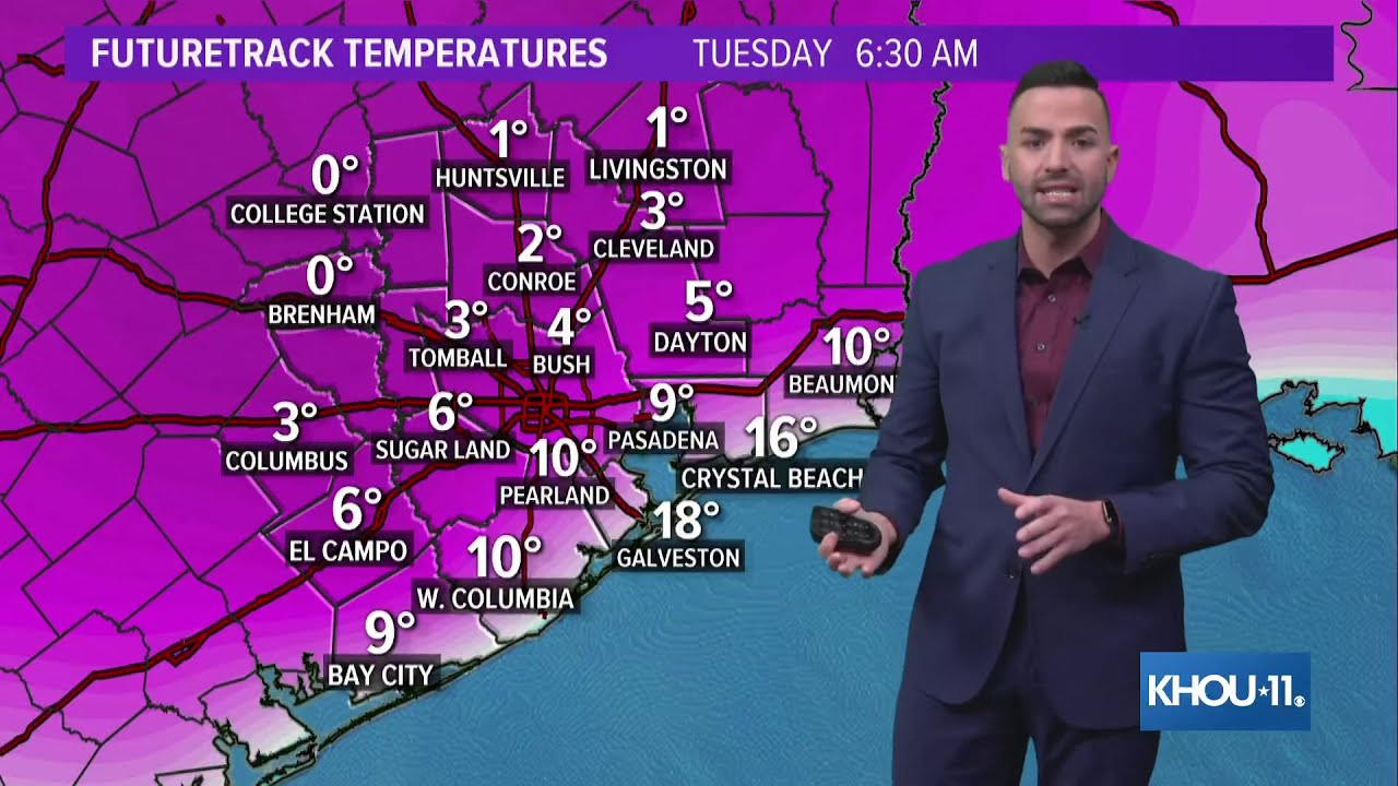 Houston weather timeline: Historic cold, then a second winter storm